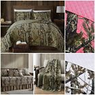 Chezmoi Collection Salem Woods Camo Washed Quilt Set Coverlet Daybed throw