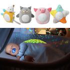Soothing Night Light Projector for Babies Soft Plush Animal Stuffed Toy with