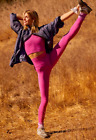 NEW Free People Movement Ultra High-Rise Happiness Runs Leggings Pink Violet 70