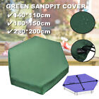 Octagon Sandbox Cover Green Sandpit Cover with Drawstring Waterproof US