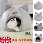 Cat Pet Dog Warm House Cave Beds for Indoor Cats Cozy Wool Igloo Nest Kennel M/L