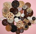 Buttons in Lots of 50-Blue,Brown,White,Purple,Rose,Orange Mixes-Crafts,Sewing