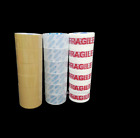 NEW STRONG BROWN PACKAGING TAPE CLEAR FRAGILE Parcel Box Packing Tape - 48mmx66m