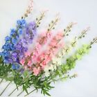 Artificial 2 Forks Delphinium Flowers W/long Stem For Home, Wedding Decorations