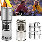 Foldable Stainless Steel Outdoor Camping Wood Stove BBQ Cooking Stove Burner
