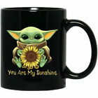 Baby Yoda You Are My Sunshine SunFlower So Cute Gift Fan Coffee  11 Oz-15 Oz Mug