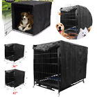Dog Cage Cover Waterproof Dust-proof Oxford Pet Kennel Windproof Tent 36'' 48''