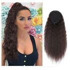 Long Curly Drawstring Ponytail For Women Clip in Wavy Natural Ponytail Extension