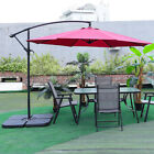 Garden Folding Chairs And Table With Parasol Hole Outdoor Patio Dining Furniture