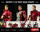 ZD TOYS 1/10 tony stark head sculpture Preorder Products shipping within 7 Day