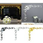 Removable Mirror Flower Teile Wall Sticker Acrylic Mural Decal Home Room-decor