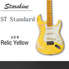 Electric Guitar Relic Style 3 Singer Pickups Floyed Rose Bridge Colorful for sale