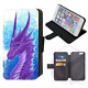 DRAGON GOTHIC ABSTRACT Flip Phone Case Cover Wallet Galaxy S7 to S20 Plus Ultra