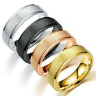 Weight Loss Solid Colored Rings Titanium Stainless Steel Frosting Men Women Au