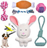 More images of Feeko Squeaky Plush Dog Rope Toy 6 Pack for Puppy, Bulk with Squeakers for Small
