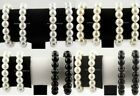 4 PIECES PEARL STRETCH BEAD STRAND WRISTBAND BRACELETS