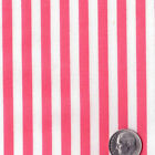 POLYCOTTON FABRIC FOR SHIRTS CLOTH DRESS BEDDING 5MM PAJAMAS PAPILLON STRIPE 44""