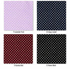 COTTON FABRIC 2MM WHITE POLKA DOT BLACK RED PINK GREEN
