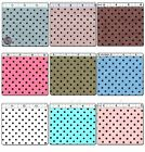 POLYCOTTON CLOTH WORKS DRESSMAKING COSPLAY FABRIC 4MM POLKA DOT DOTTY 25 COLORS