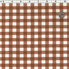 COTTON OXFORD CLOTHES CURTAIN TABLETOP UPHOLSTERY FABRIC 10MM GINGHAM CHECK 44'W
