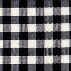 ACRYLIC CLOTHES SCHOOL UNIFORM DRESS SKIRT FABRIC GINGHAM CHECK WHITE BLACK 44'W