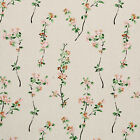 LINEN COTTON BLENDED FABRIC FOR CURTAIN DRAPERY SHABBY FLORAL NATURAL BEIGE 54'W