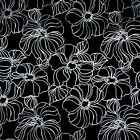CANVAS COTTON CUSHION FABRIC METALIC ROSE BLACK BROWN