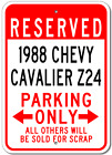 1988 88 CHEVY CAVALIER Z24 Parking Sign