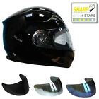 VIPER RS-44 MOTORCYCLE MOTORBIKE FULL FACE HELMET ACU GOLD BLACK 4 Star SHARP