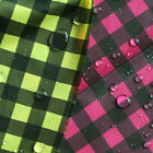 WATER REPELLENT OUTDOOR POLY LIGHT 50D GINGHAM PLAID 1Y