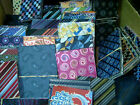c. 10 Piece Silk Material Sticky Back Scrapbook U Chose Color Designs