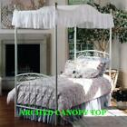 """Twin Size ARCHED Canopy top - EYELET 44""""wide x 89"""" long image"""