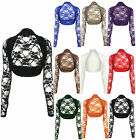Ladies Long Sleeve Lace Shrug Cardigan Top 8/10-12/14