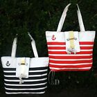 Lovely Striped Canvas Tote Shoulder HandBag ha105
