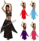 HALTER TOP / SKIRT BELLY DANCE COSTUME HALLOWEEN TRIBAL GYPSY BOHEMIAN FREE SHIP