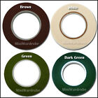 "Green White Brown Floral Stem Wrap Florist tape 1/2"" 1 Roll"