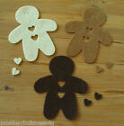Felt Die Cuts - Gingerbread Man - new Colours - Topper - Cards - Applique