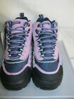 LADIES CAMPRI PINK AND PURPLE LACE UP WALKING / HIKING BOOTS-SHAZNEY