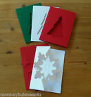 Papermania - A6 - Card Blanks with Envelopes - Snowflake & Christmas Tree