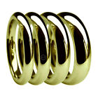 18ct Yellow Gold Extra Heavy Court Wedding Rings 2mm 3mm 4mm 5mm 6mm HM Band H-Z