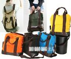 Canvas large Backpack messenger Shoulder Hobo HandBag ha138