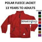 Boys Girls Adults Polar Fleece Jacket School Uniform Heavyweight Ages 13-20+ yrs