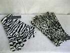 LADIES LONG LEOPARD PRINT OR ZEBRA PRINT POLAR FLEECE GLOVES GL252A
