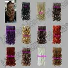Free Shipping Long 5 Clips On Hair Piece Extension All Color/Length Curly 3920