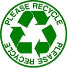 Coroplast Please Recycle Shape Sign Choose Size & Color