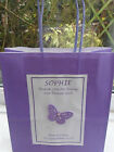 PERSONALISED PURPLE GIFT BAG WEDDING BRIDESMAID FLOWER GIRL MUM MAID OF HONOUR