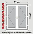 White uPVC French Doors, Made to Measure / Various Sizes / Made to Measure