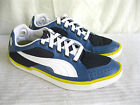 Puma KITE RIPSTOP 184347 01 Mens Blue White Navy Yellow Trainer (40A)
