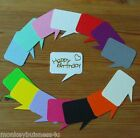 Bear Die Cuts - Speech Bubble - Topper - Embellishment - Birthday - Sentiments