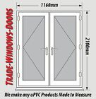WHITE UPVC FRENCH DOOR SET - NEW, MADE TO MEASURE #030